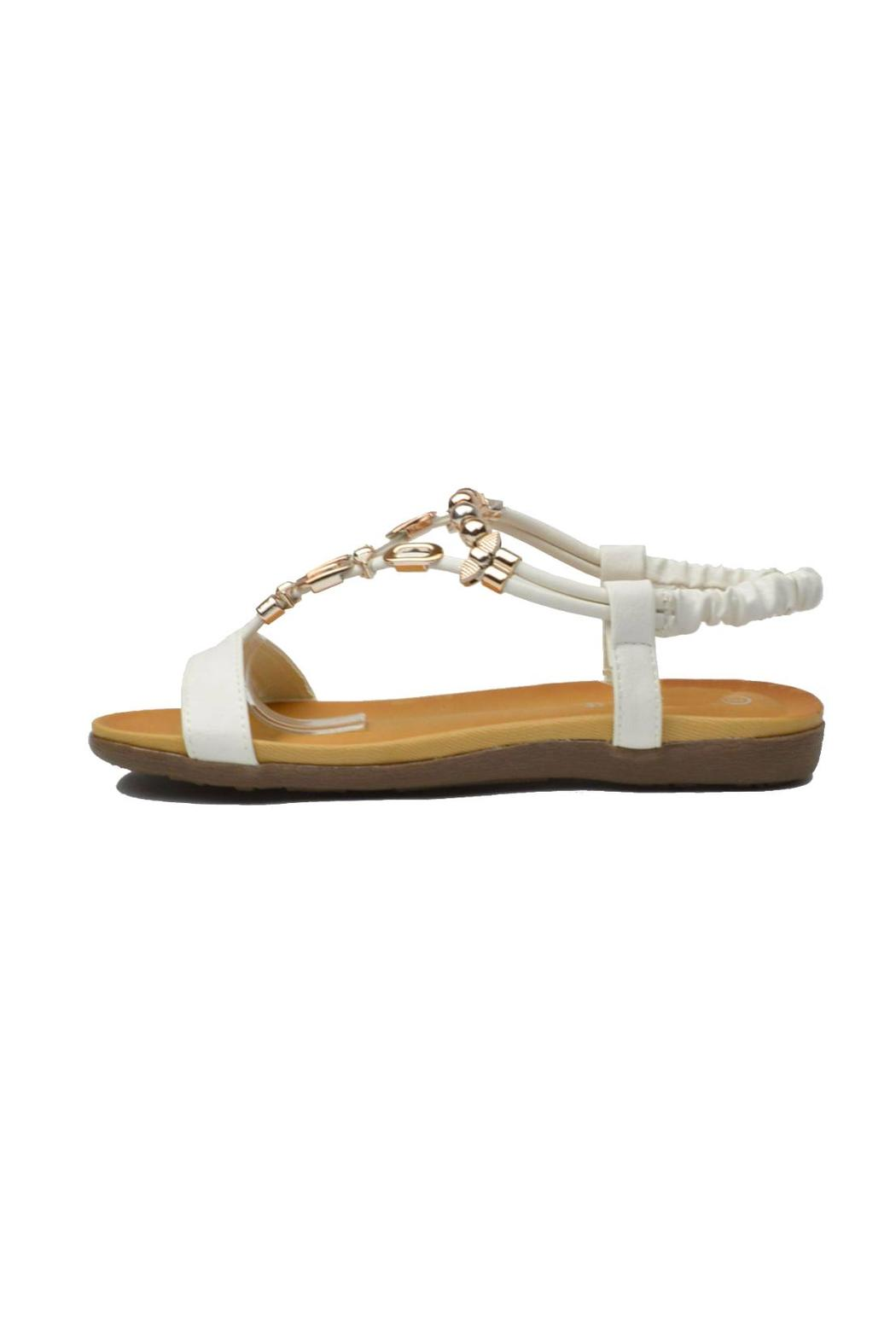 Sup Trading Gold Hardware Sandal - Front Cropped Image