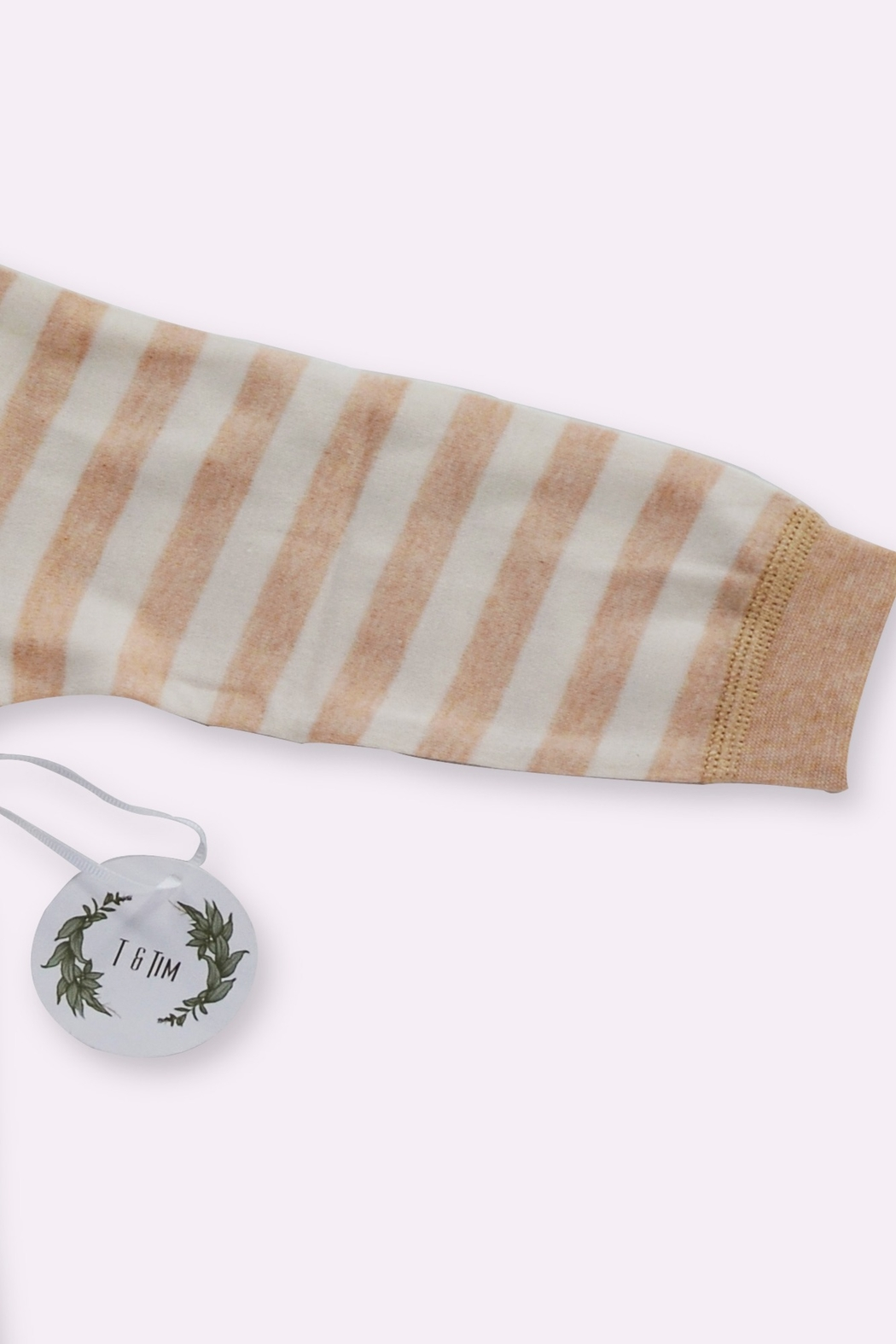 T & Tim Super Cute Striped Pajamas in Organic Cotton - Side Cropped Image