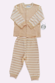 T & Tim Super Cute Striped Pajamas in Organic Cotton - Front cropped