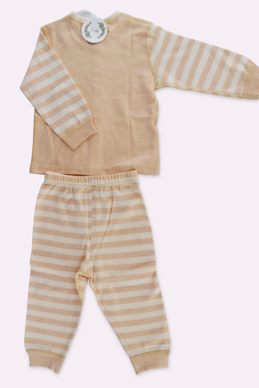 T & Tim Super Cute Striped Pajamas in Organic Cotton - Front Full Image