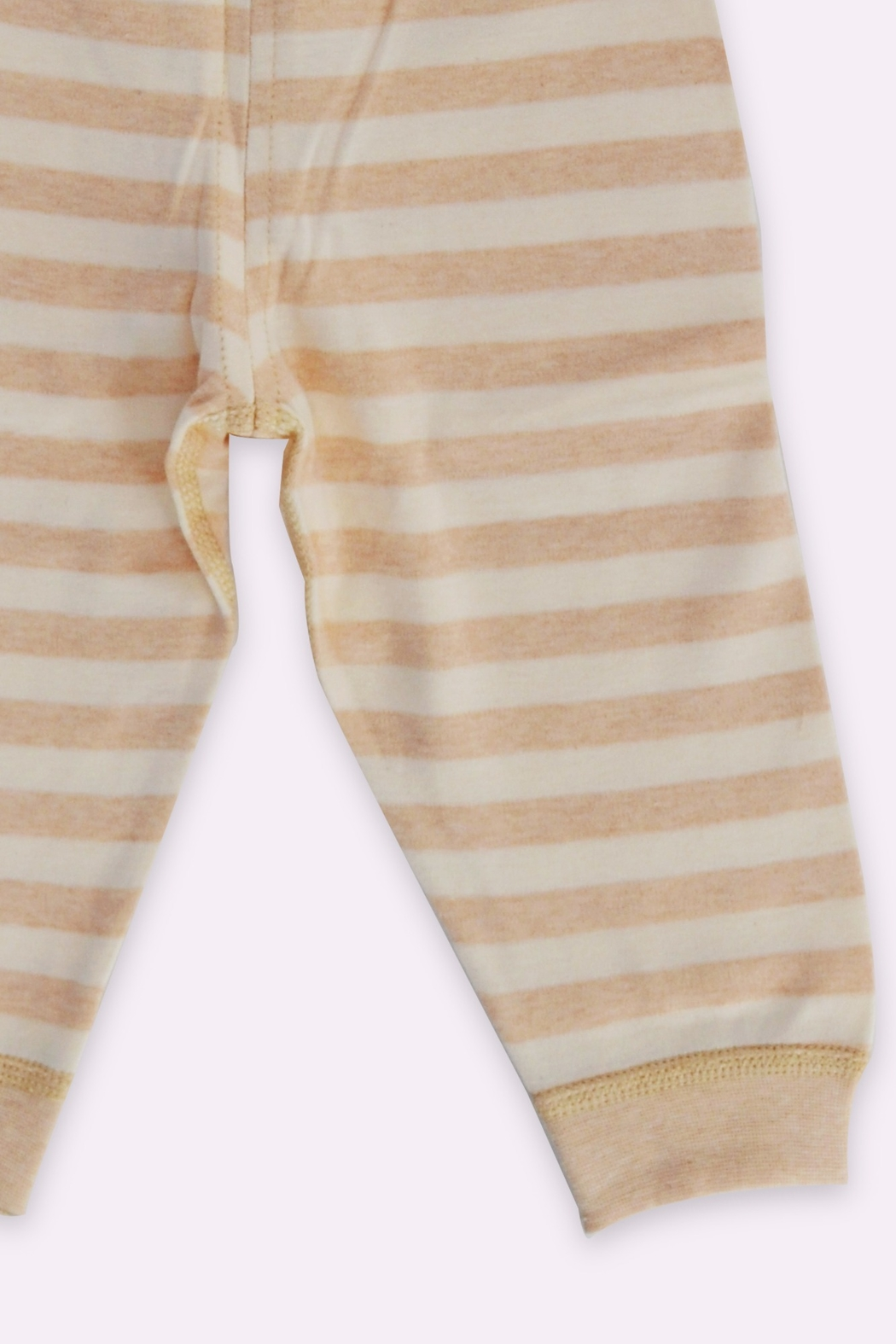 T & Tim Super Cute Striped Pajamas in Organic Cotton - Back Cropped Image