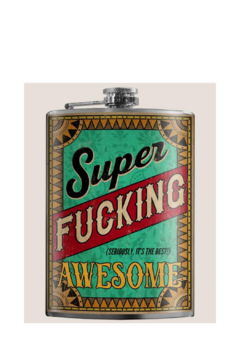 Trixie & Milo Super F*G Awesome -flask - Product List Image