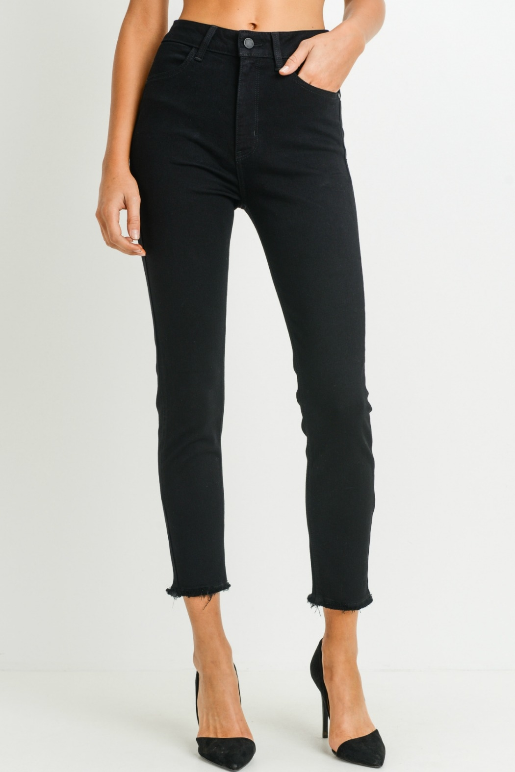 just black Super High Rise Skinny - Front Cropped Image