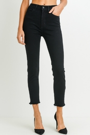 just black Super High Rise Skinny - Front cropped