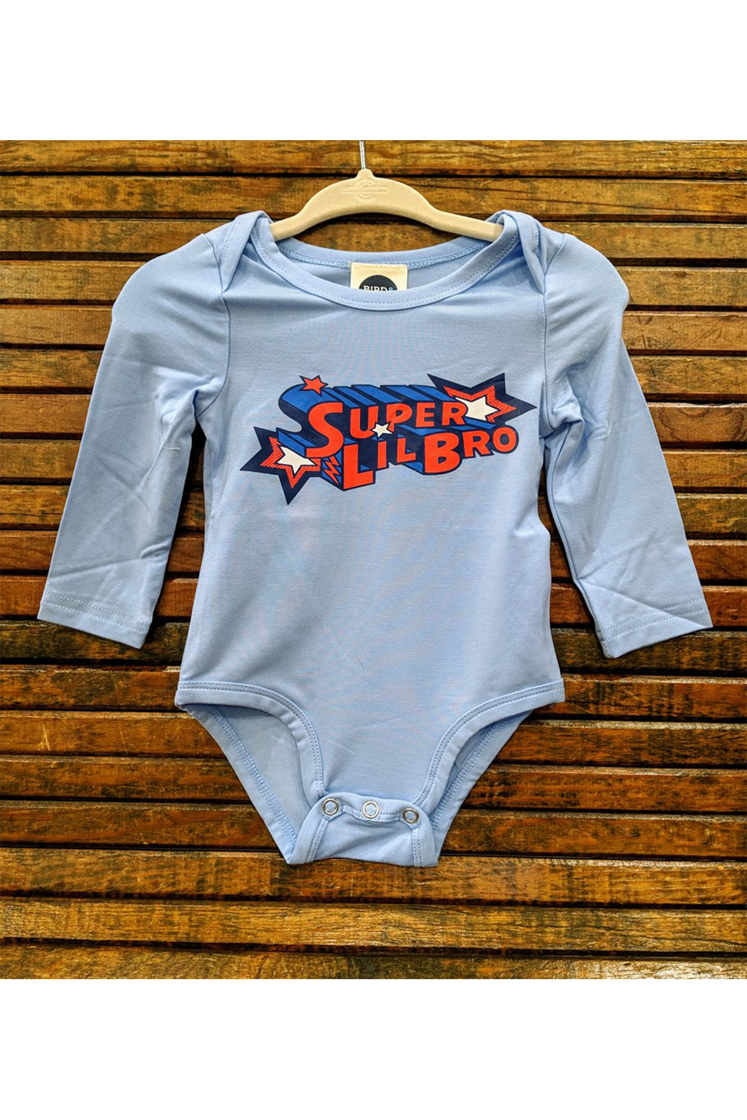 Bird & Bean Super Little Bro/Super Little Sis Onesie - Main Image