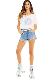 Wildfox Super Saturdaze Romeo Tee - Back cropped