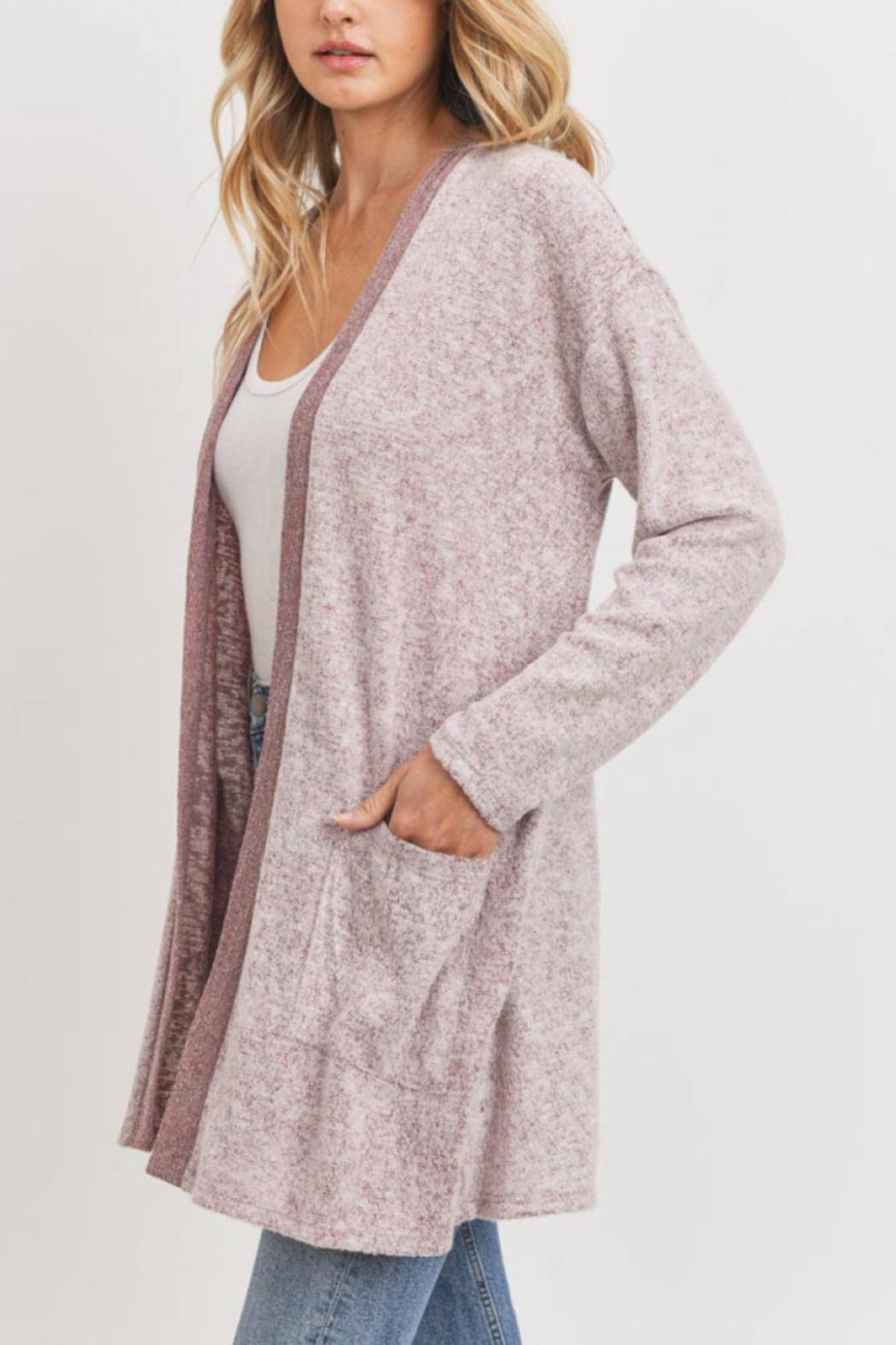 Lyn-Maree's  Super Soft Trimmed Cardi - Main Image