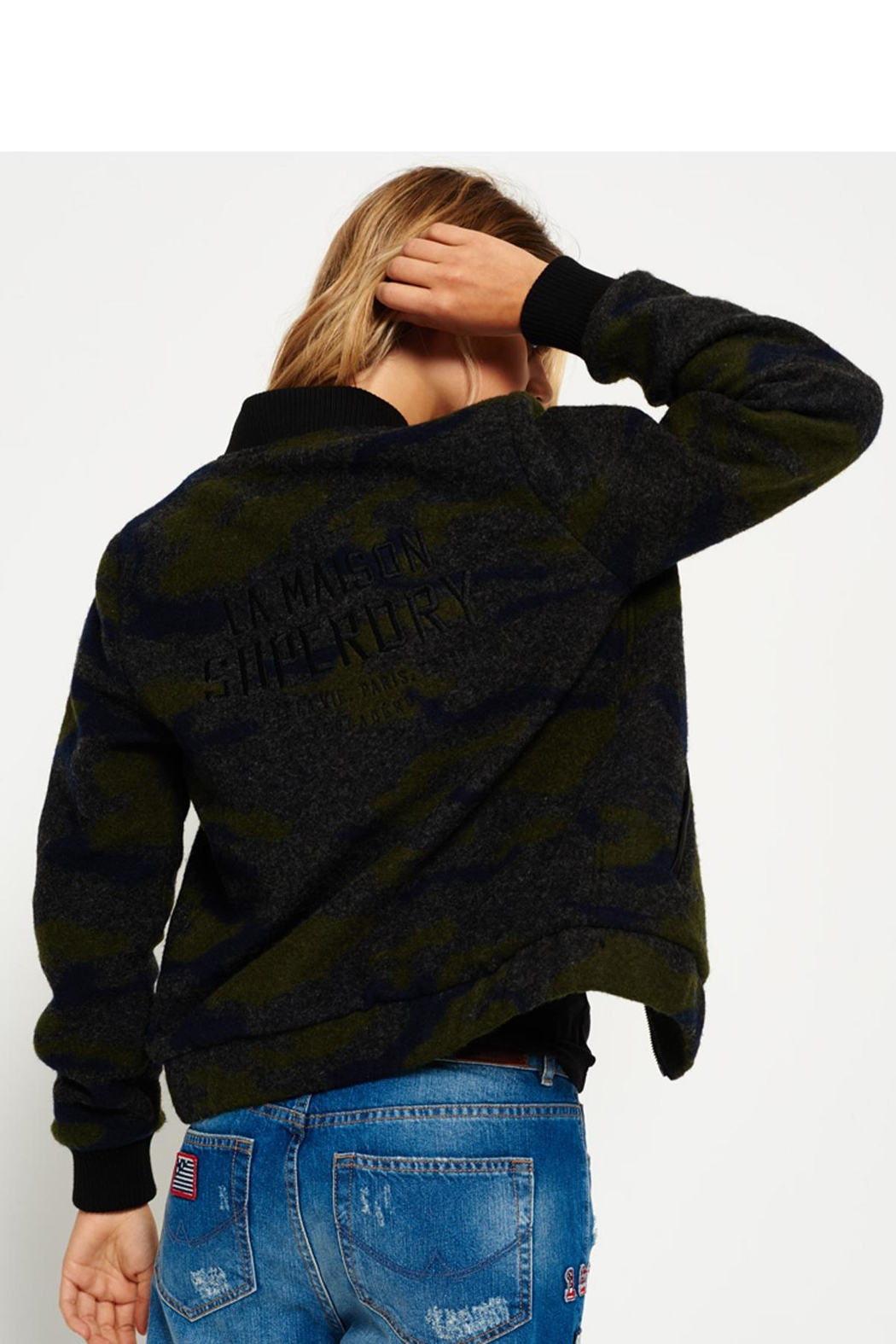 Superdry Evie Wool Bomber Jacket - Side Cropped Image