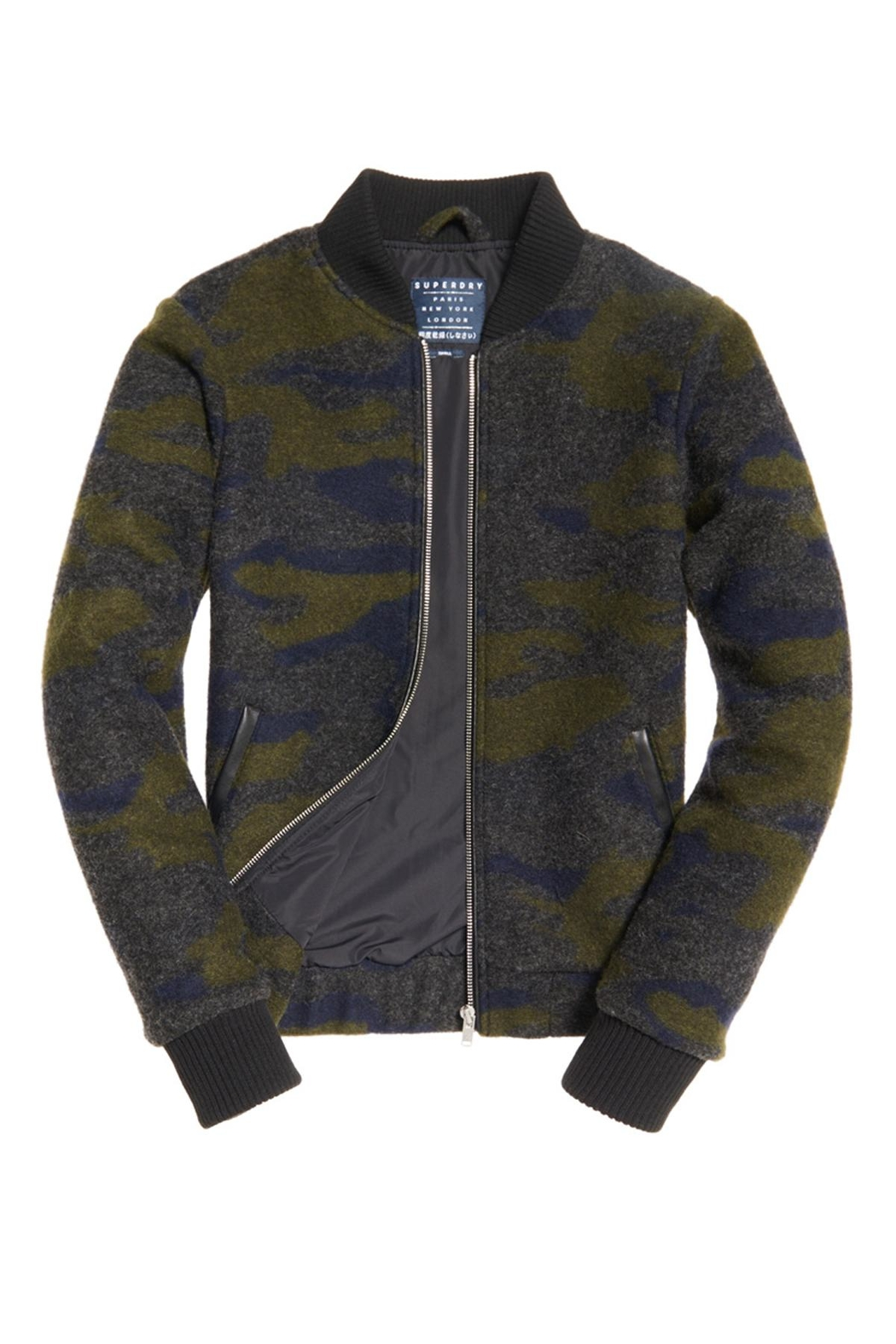 Superdry Evie Wool Bomber Jacket - Front Cropped Image