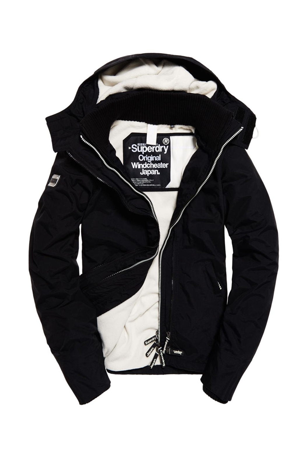 Superdry Popzip Windcheater Jacket - Side Cropped Image