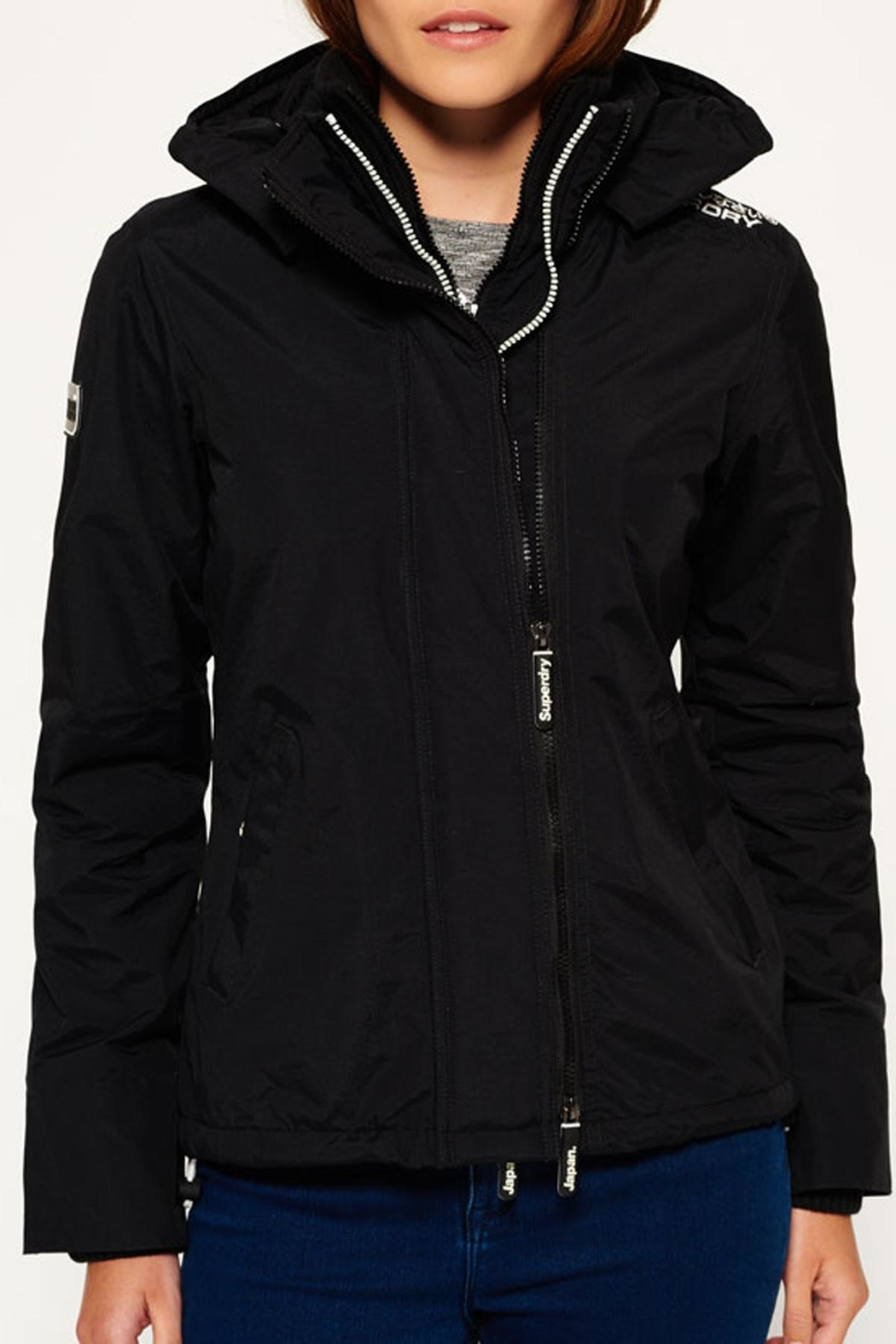 Superdry Popzip Windcheater Jacket - Front Cropped Image