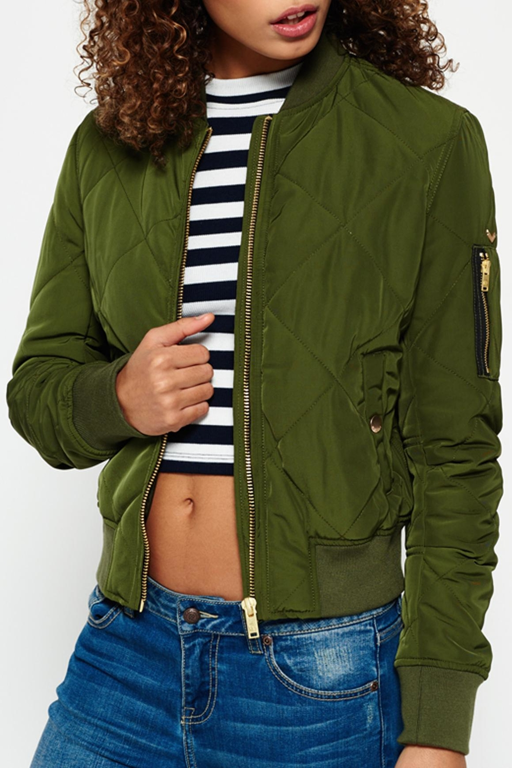 Superdry Quilted Utility Jacket - Front Cropped Image