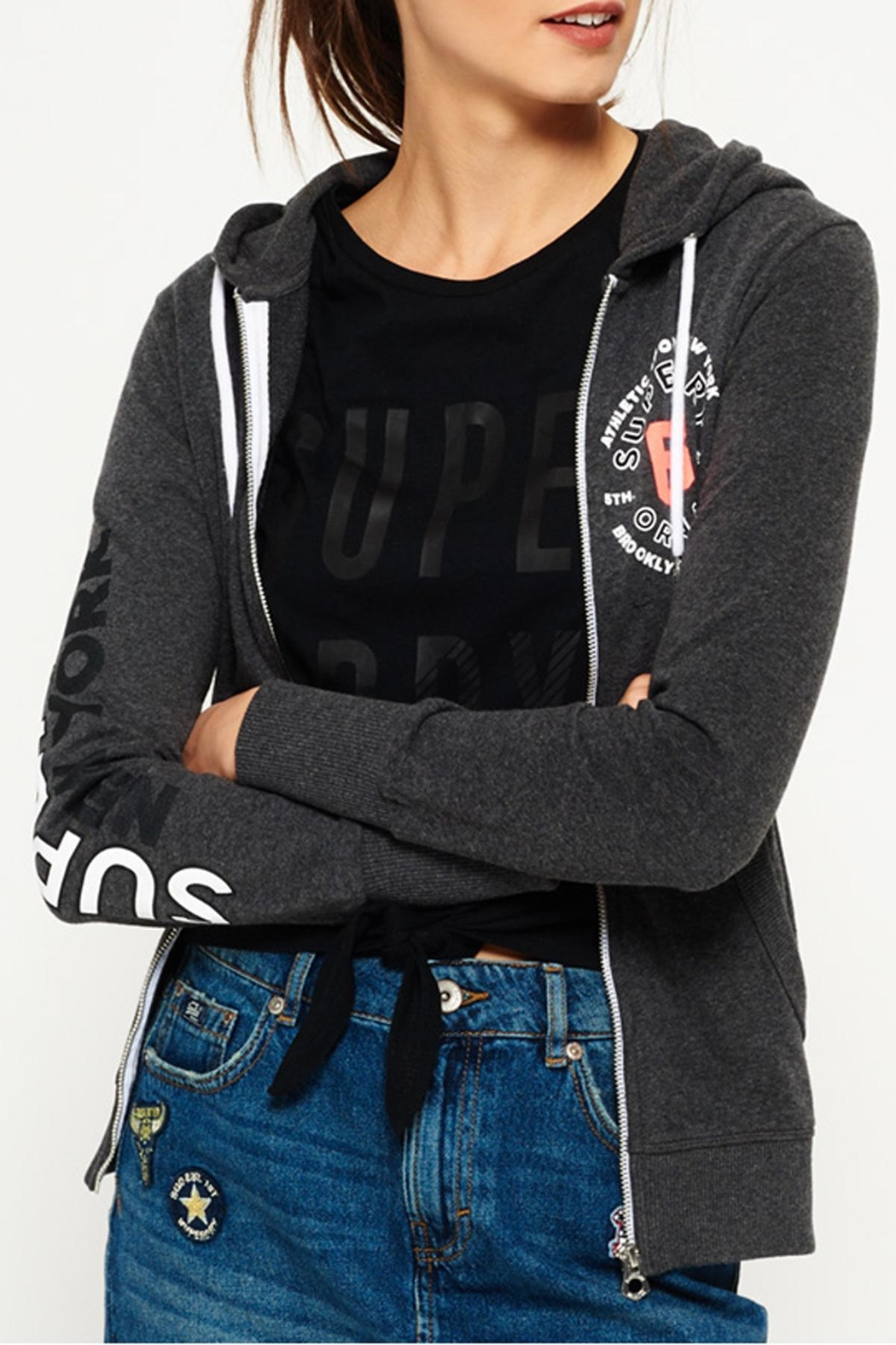 Superdry Terry Toweling Zip Hoodie - Front Cropped Image
