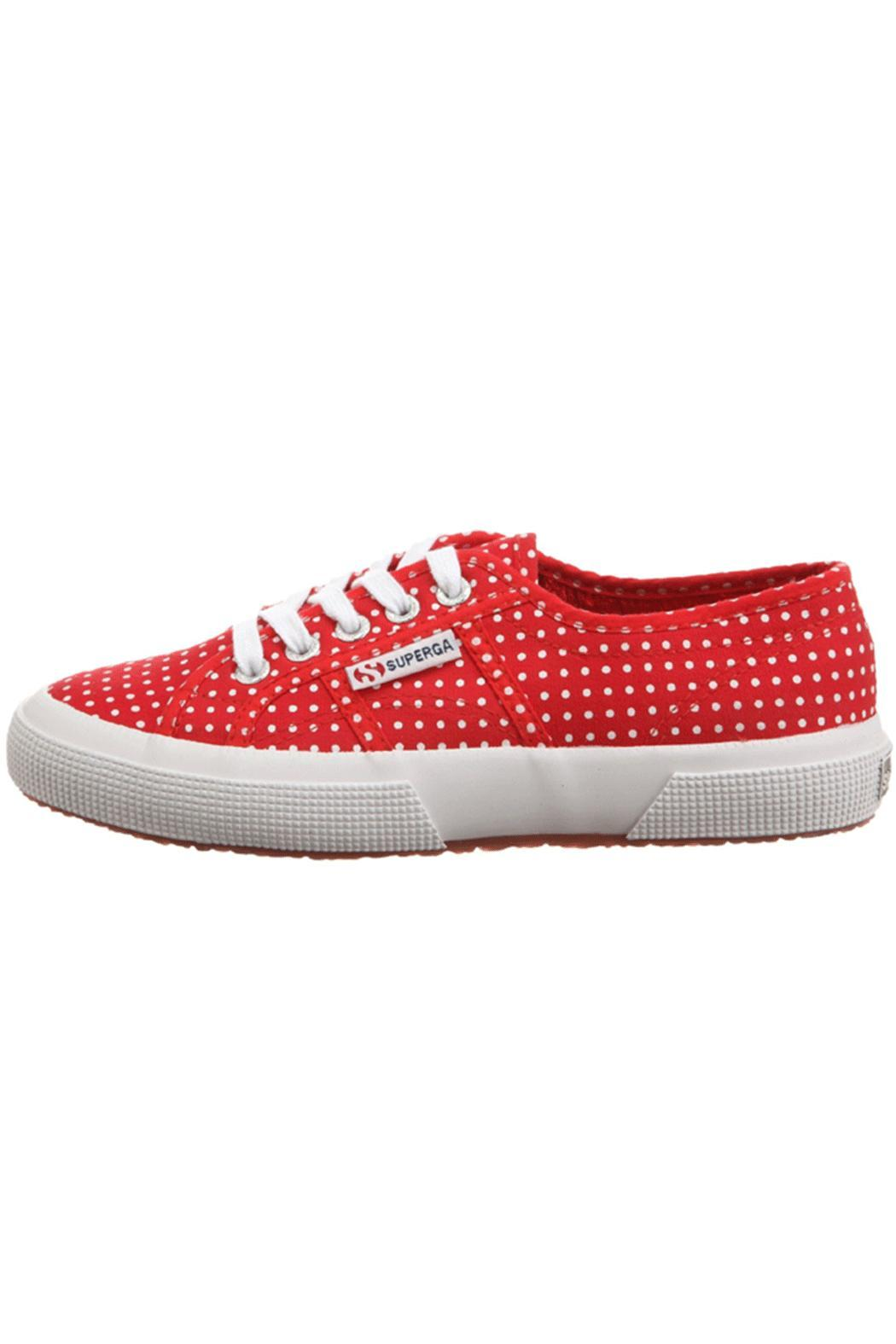 Superga Red Pois Sneakers - Main Image