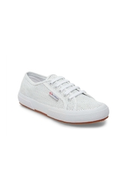 Superga Women's 2750 White Perforated Sneaker - Front cropped
