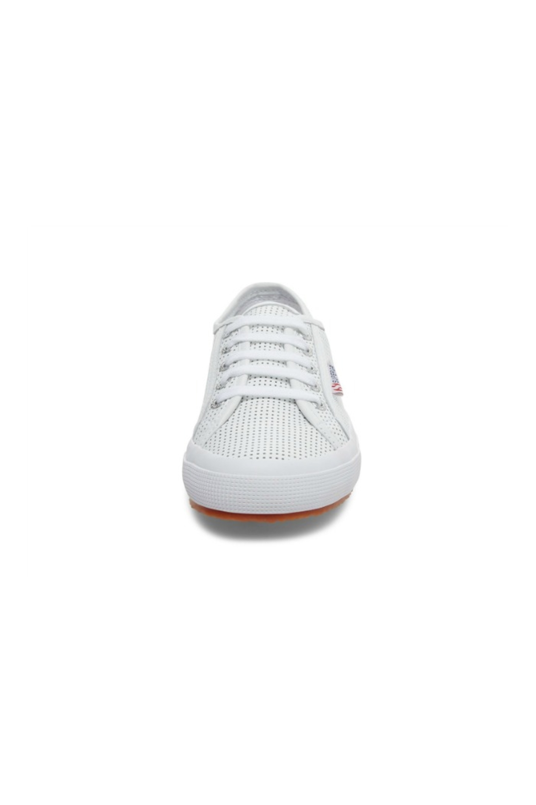 Superga Women's 2750 White Perforated Sneaker - Side Cropped Image