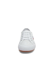 Superga Women's 2750 White Perforated Sneaker - Side cropped
