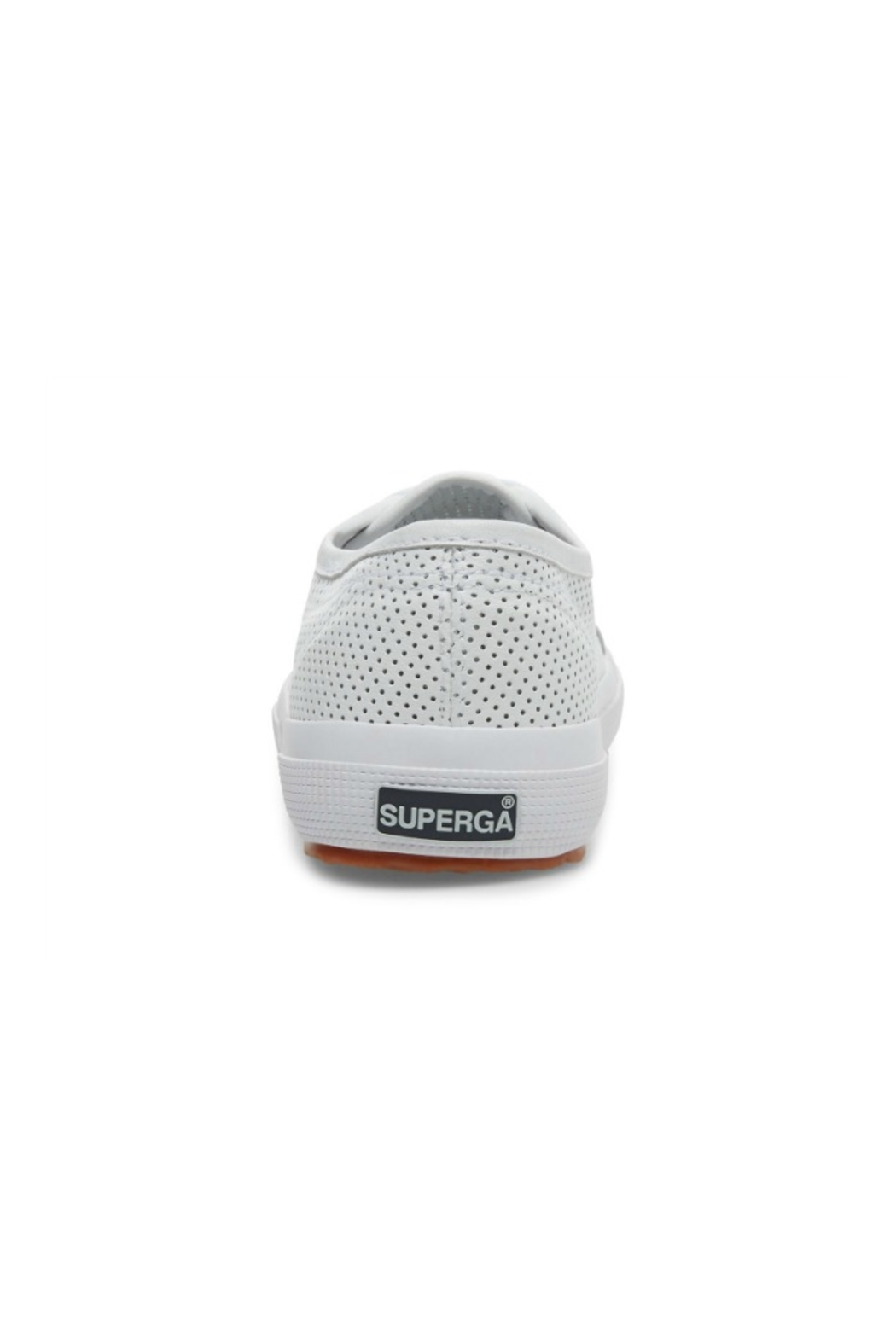 Superga Women's 2750 White Perforated Sneaker - Back Cropped Image
