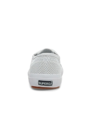 Superga Women's 2750 White Perforated Sneaker - Back cropped