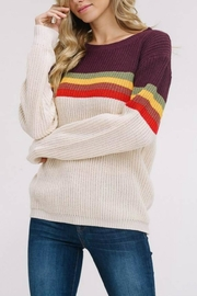 Listicle Supergraphics Sweater - Front cropped