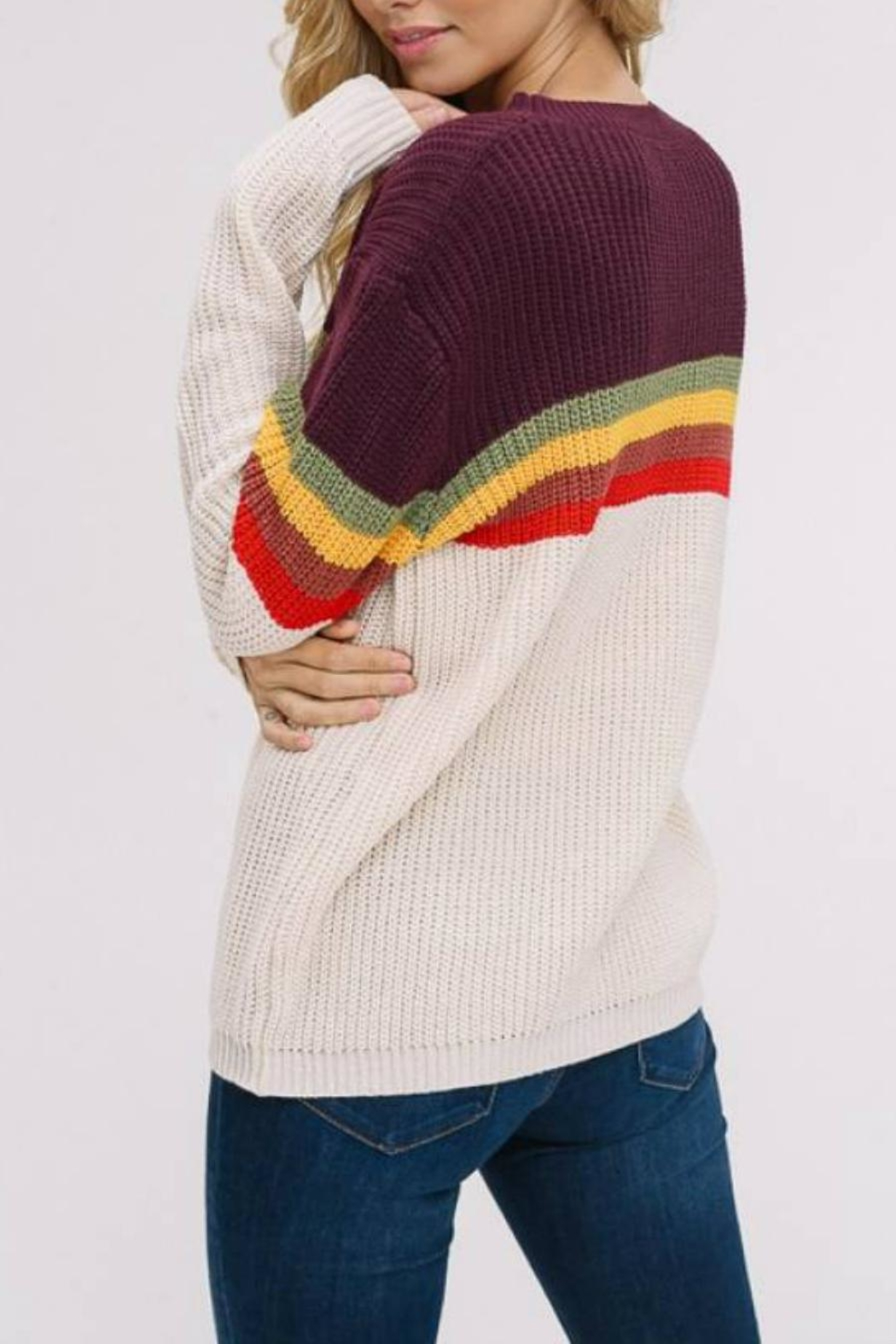 Listicle Supergraphics Sweater - Side Cropped Image