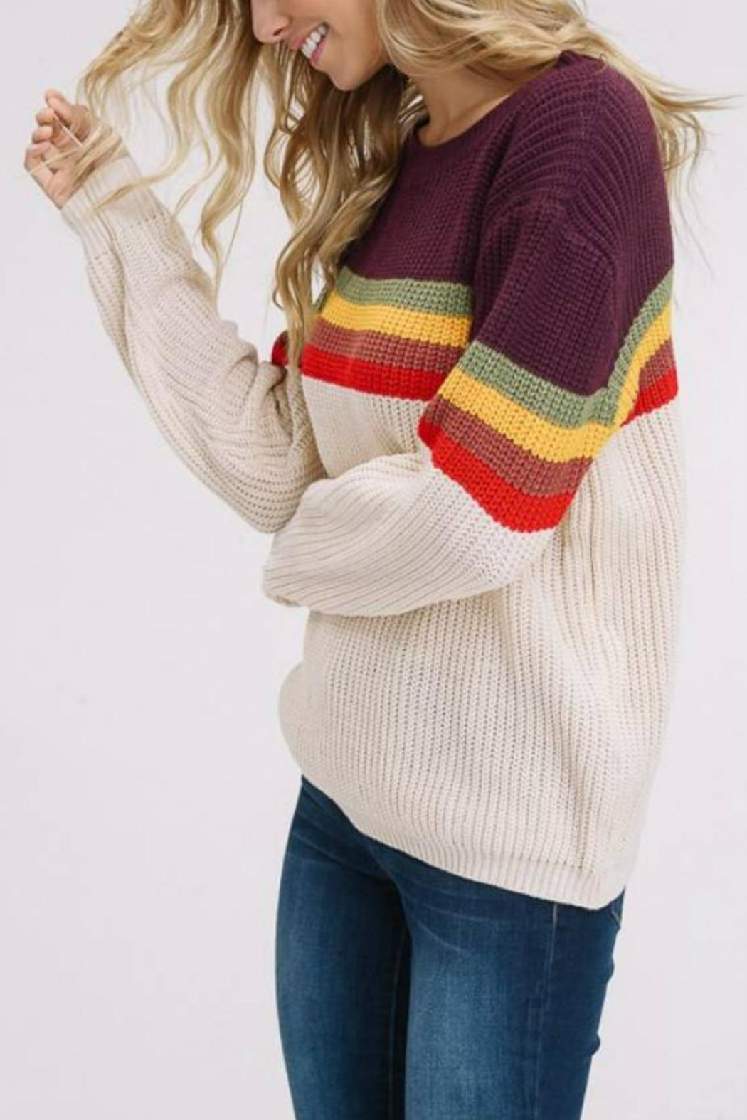 Listicle Supergraphics Sweater - Front Full Image