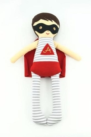 Alimrose Superhero Doll Rattle - Front cropped