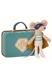 Maileg Superhero Mouse in Suitcase Little Brother - Product Mini Image