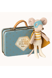 Maileg Superhero Mouse, Little Brother In Suitcase - Product Mini Image