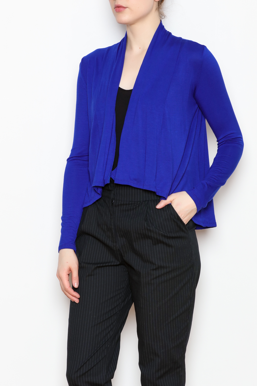 Superline Draped Open Cardigan - Front Full Image