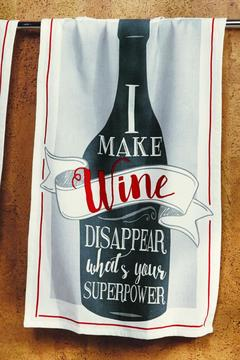 Jenny & Company Superpower Wine Towel - Alternate List Image