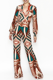 Superstar Colorful Pattern Jumpsuit - Front cropped
