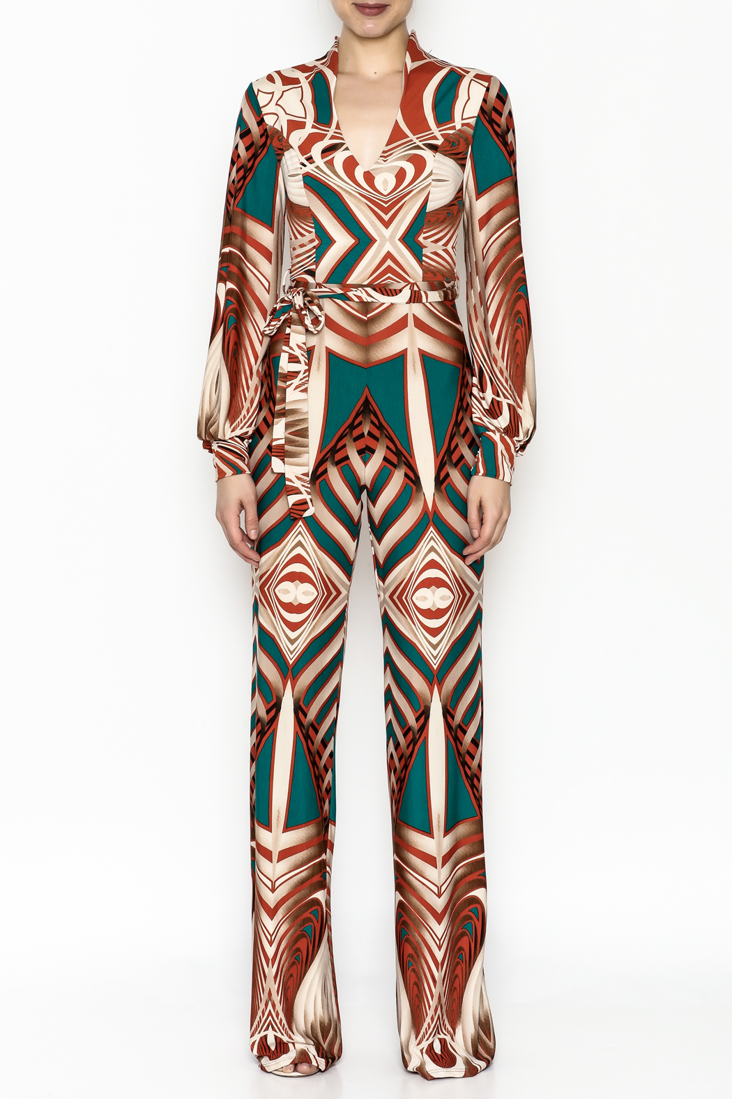 Superstar Colorful Pattern Jumpsuit - Front Full Image