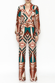 Superstar Colorful Pattern Jumpsuit - Front full body
