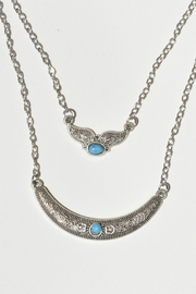 Superstar Accessories Metellic Antique Crescent/wing Double Strand Necklace - Product Mini Image