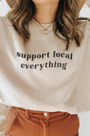 Oat Collective Support Local Everything Sweatshirt - Front cropped