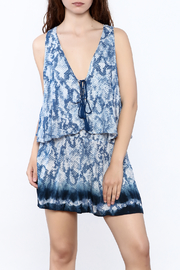 Surf Gypsy Blue Print Romper - Product Mini Image