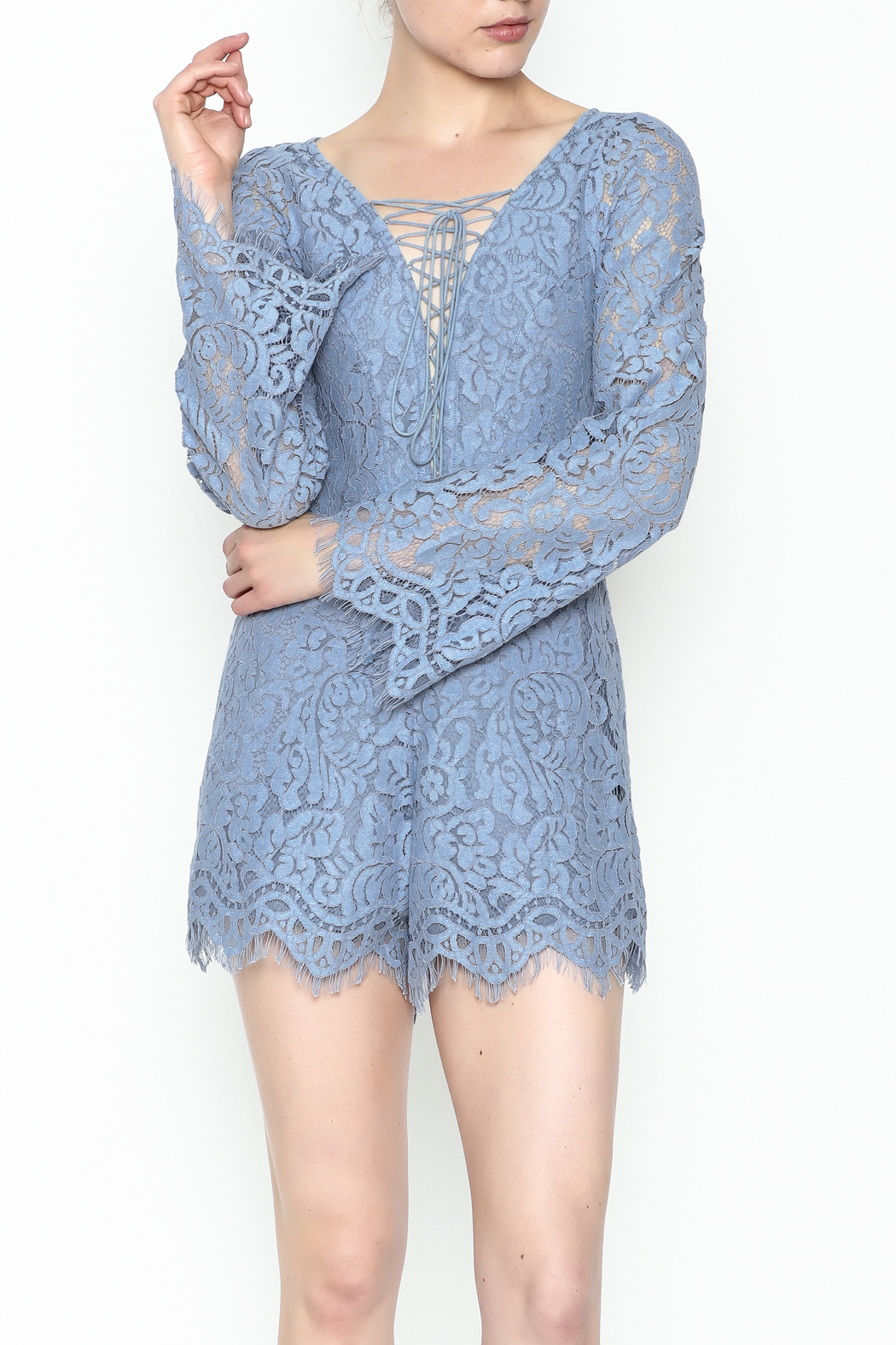 Surf Gypsy Romatic Lace Romper - Main Image