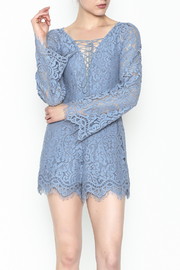 Surf Gypsy Romatic Lace Romper - Front cropped