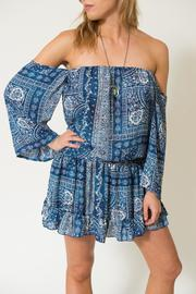 Surf Gypsy Bandana Off-Shoulder Tunic - Product Mini Image