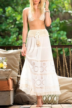 Shoptiques Product: Crochet Eyelet Maxi Skirt