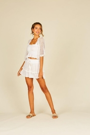 Surf Gypsy Eyelet Puff Sleeve Top - Side cropped