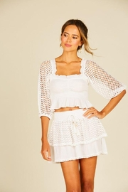 Surf Gypsy Eyelet Puff Sleeve Top - Front cropped