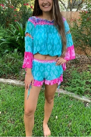 Surf Gypsy Island Vibes Shorts & Cropped Top Set - Back cropped