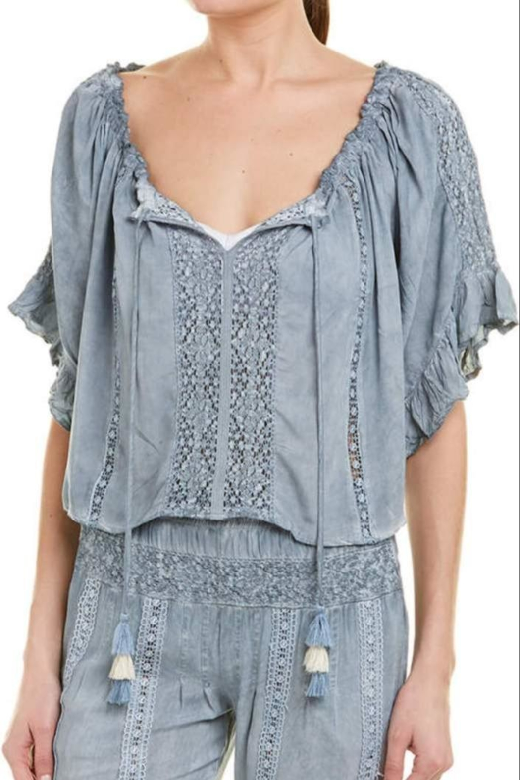 Surf Gypsy Pleated Blouse - Main Image