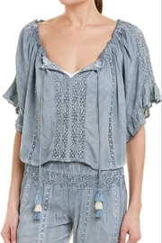Surf Gypsy Pleated Blouse - Product Mini Image