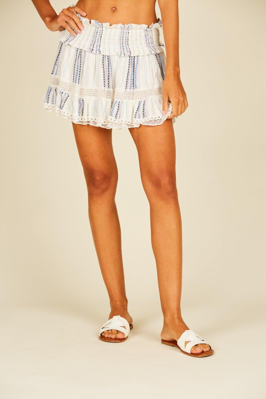 Surf Gypsy Smocked Mini Skirt - Front Cropped Image