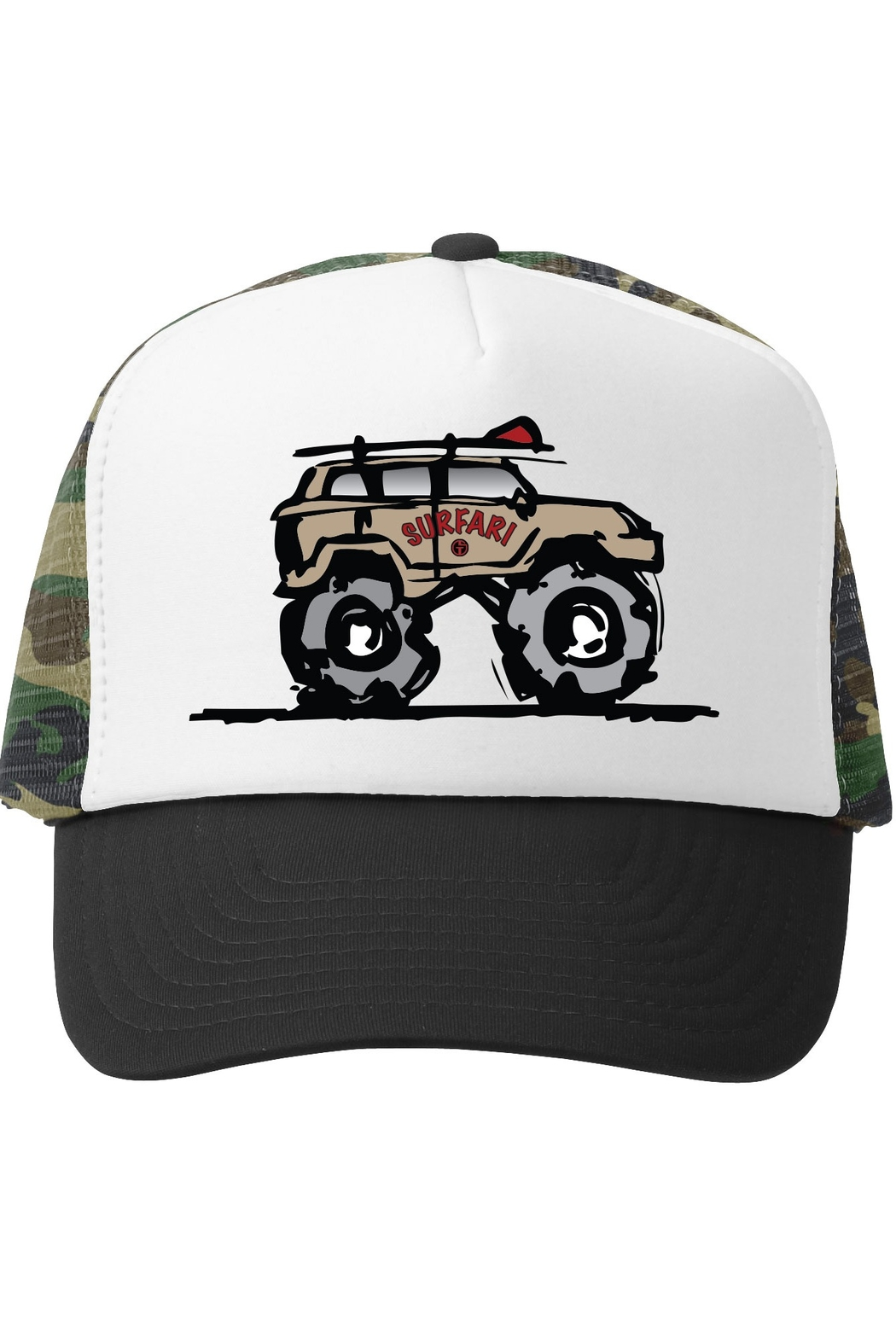 Grom Squad Surfari Trucker Hat - Front Cropped Image
