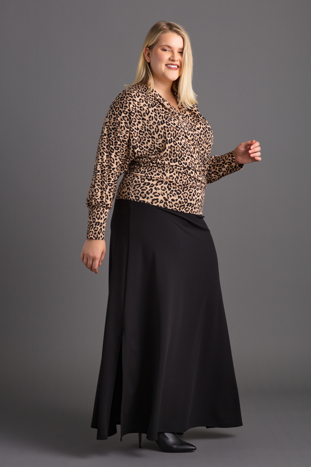VKY & CO Surplice Bishop Sleeves Top - Front Full Image