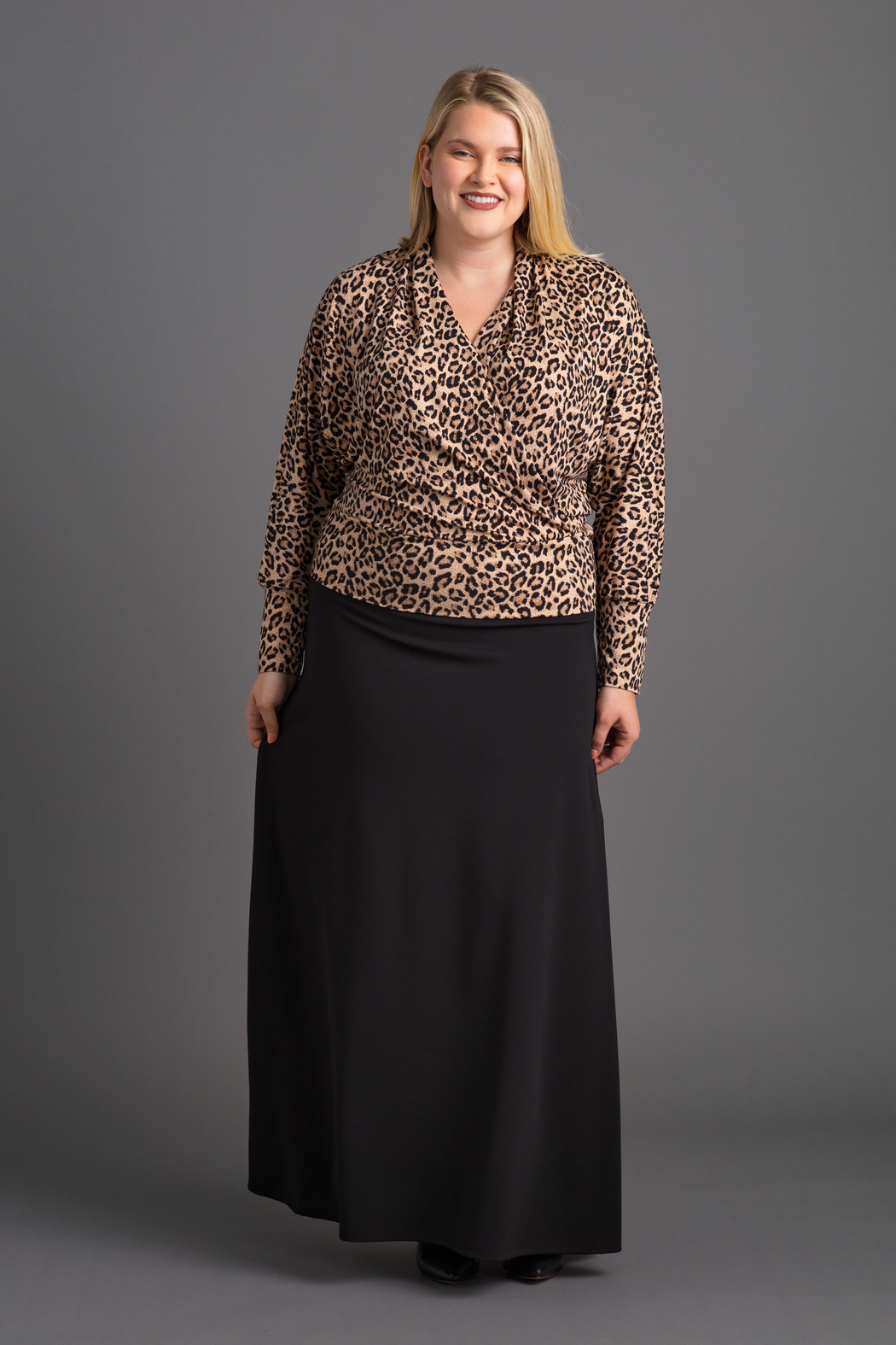 VKY & CO Surplice Bishop Sleeves Top - Front Cropped Image